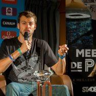 Athlétisme : Christophe Lemaitre rencontre les medias à Paris