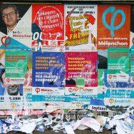 Elections : guerre des affiches de campagne à Paris.
