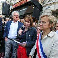 Agression de NKM : un rassemblement place Maubert à Paris