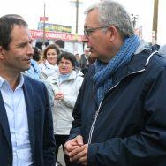 Benoît Hamon et Pierre Laurent se retrouvent à la Fête de l'Humanité.