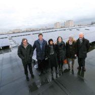 Anne Hidalgo inaugure la plus grande centrale photovoltaïque sur toiture d'Ile-de-France.