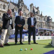 Ryder Cup 2018 : Inauguration d'un village d'initiation au golf sur le Parvis de l'Hôtel de Ville.