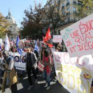 Les enseignants contre  la réforme de l'enseignement professionnel public.