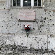 Le mur de l'Ecole des mines, à Paris.