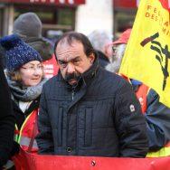 """La CGT en grève, Martinez voit des convergences éventuelles avec les """"gilets jaunes""""."""