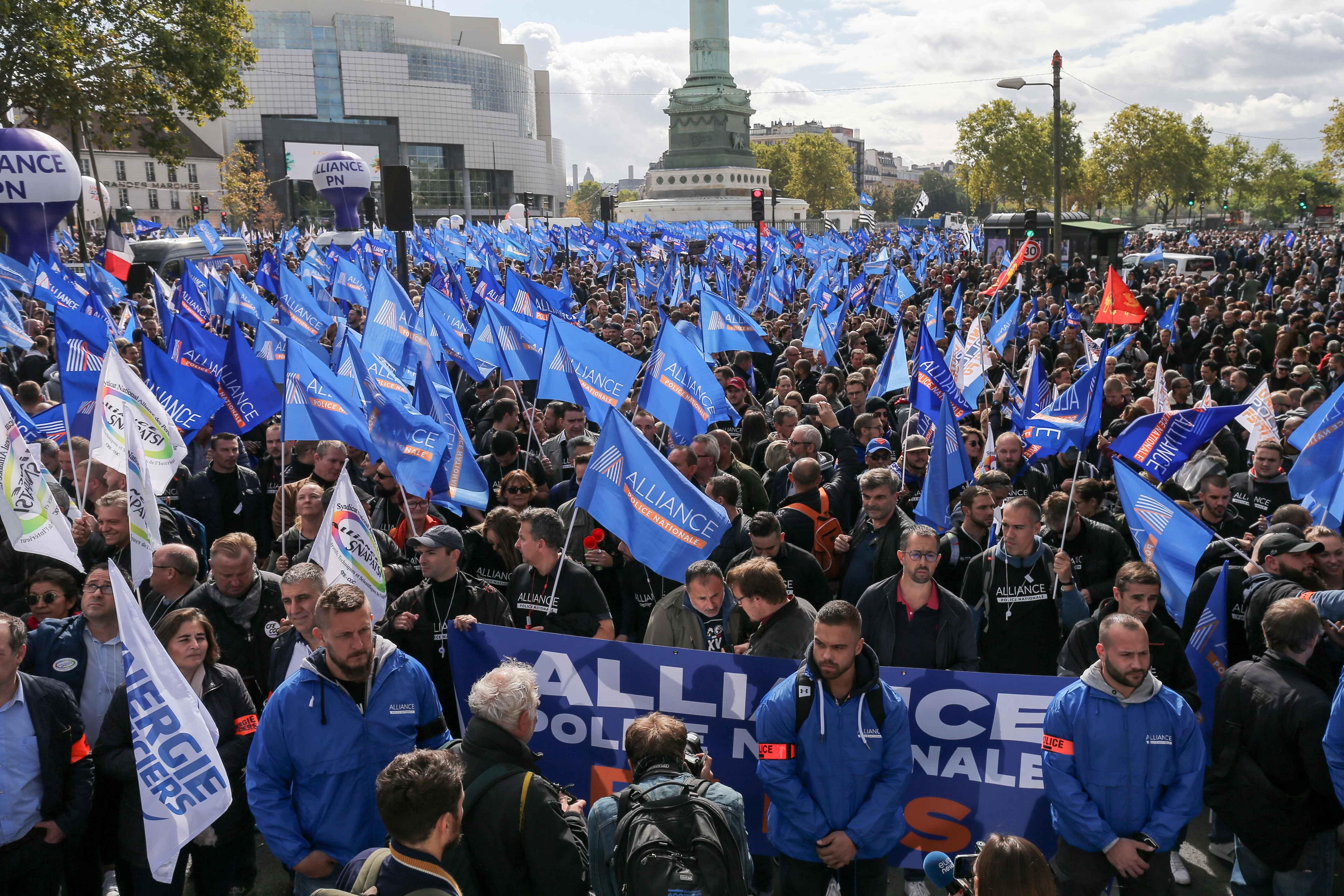 Pour la première fois en 20 ans, tous les syndicats réunis. © Michel Stoupak. Mer 02.10.2019, 11:54:14.