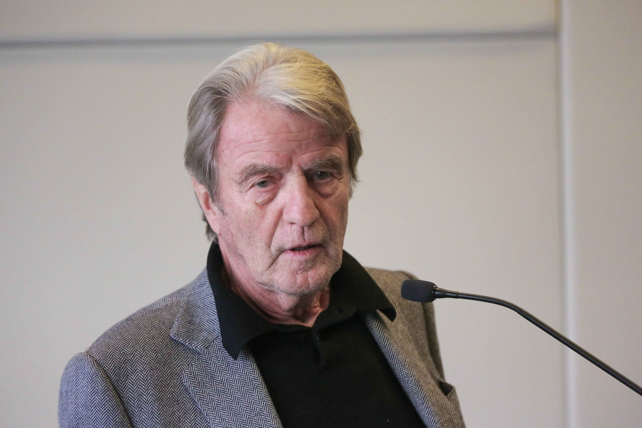 Former French Minister for Foreign Affairs Bernard Kouchner takes part in the 10th national convention of the Representative Council of Jewish Institutions of France (CRIF - Conseil Representatif des Institutions juives de France) on November 17, 2019, at