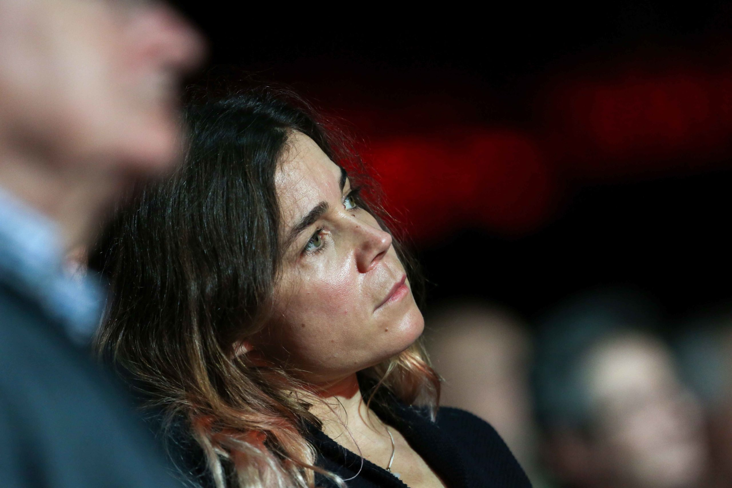 French comedian Blanche Gardin takes part in a report of the Abbe Pierre Foundation on poor quality housing conditions, on January 31, 2020 in La Defense, near Paris.