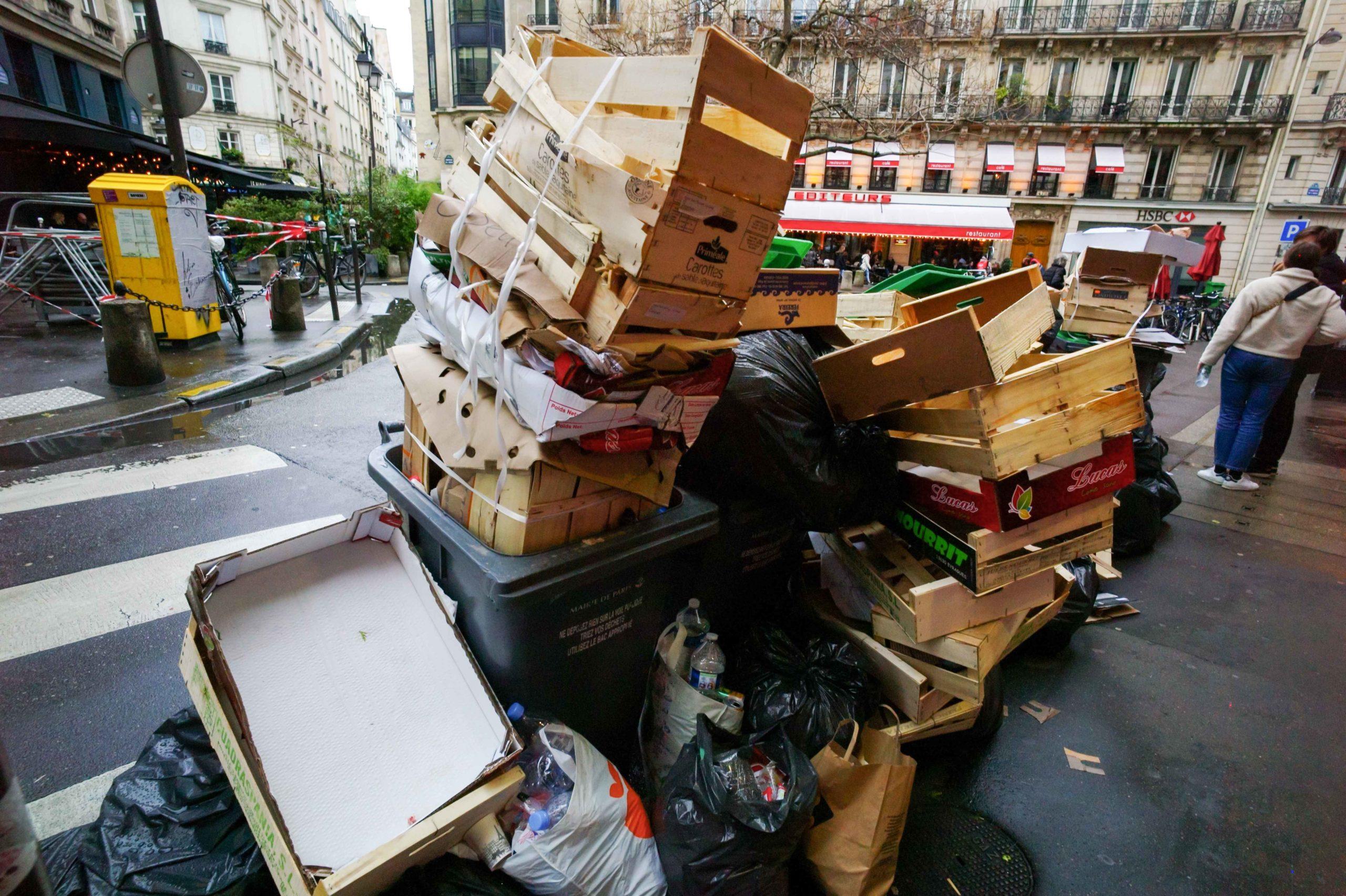 Les effets de la grève sont visibles dans les rues de Paris. © Michel Stoupak. Dim 02.02.2020, 15:43:58.