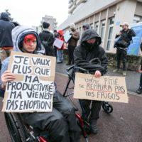 Handicap : une manifestation pour le respect des droits.