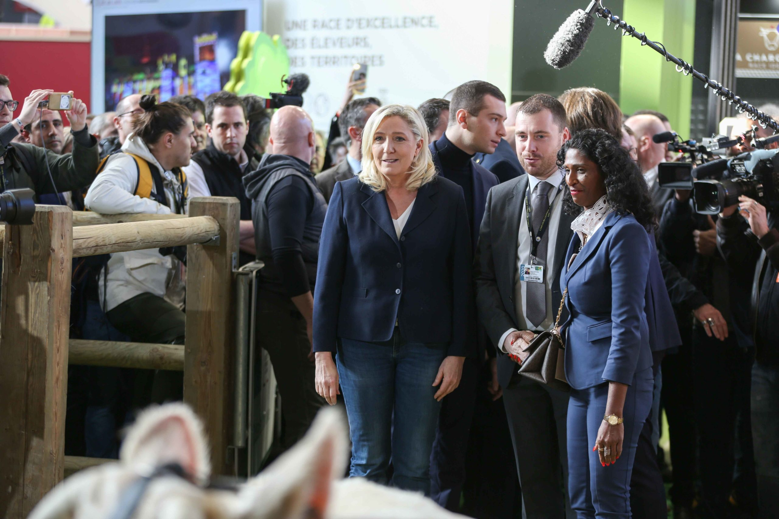 Marine Le Pen visite le Salon international de l'agriculture. © Michel Stoupak. Mar 25.02.2020, 10:03:06.