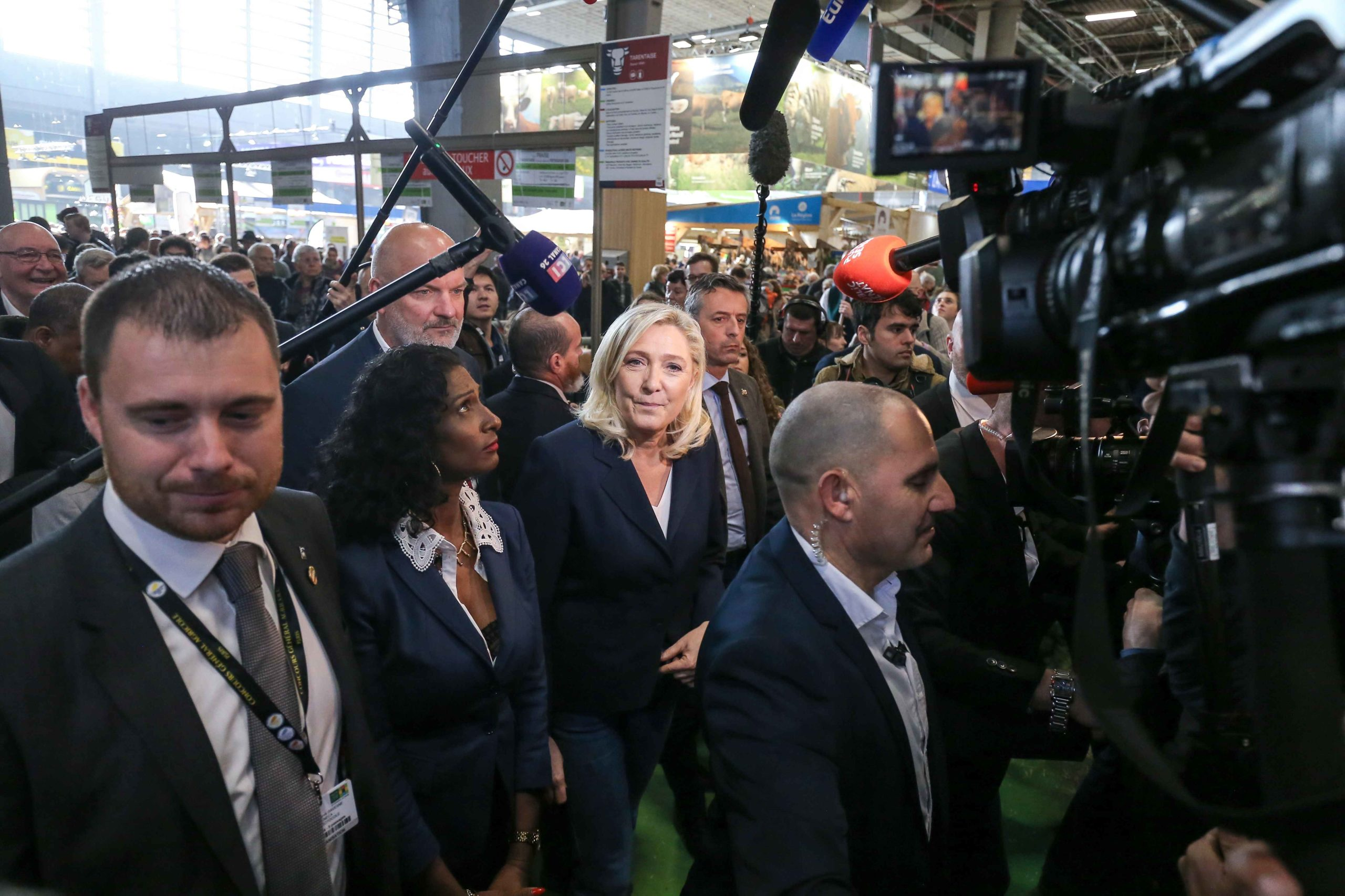 Marine Le Pen visite le Salon international de l'agriculture. © Michel Stoupak. Mar 25.02.2020, 10:21:46.