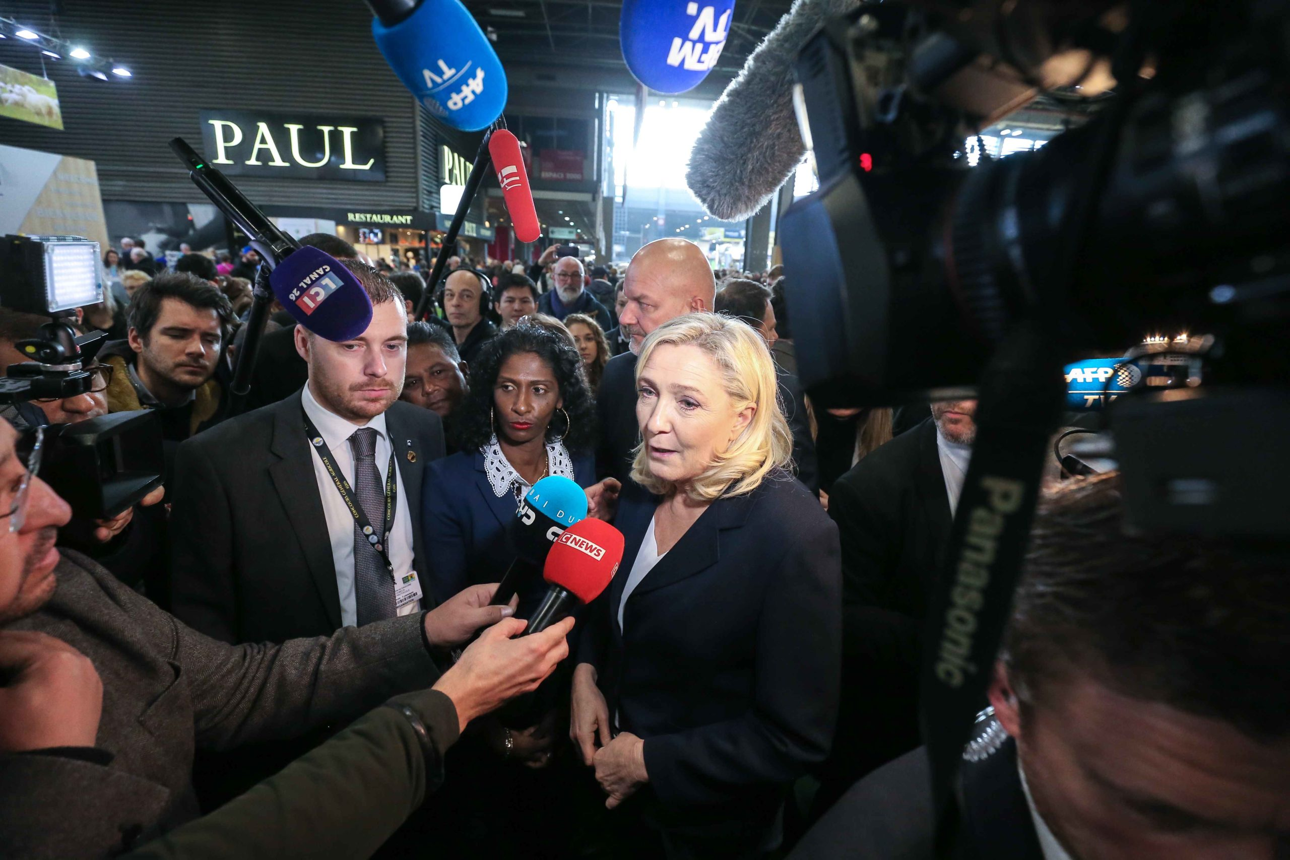 Marine Le Pen visite le Salon international de l'agriculture. © Michel Stoupak. Mar 25.02.2020, 10:22:54.