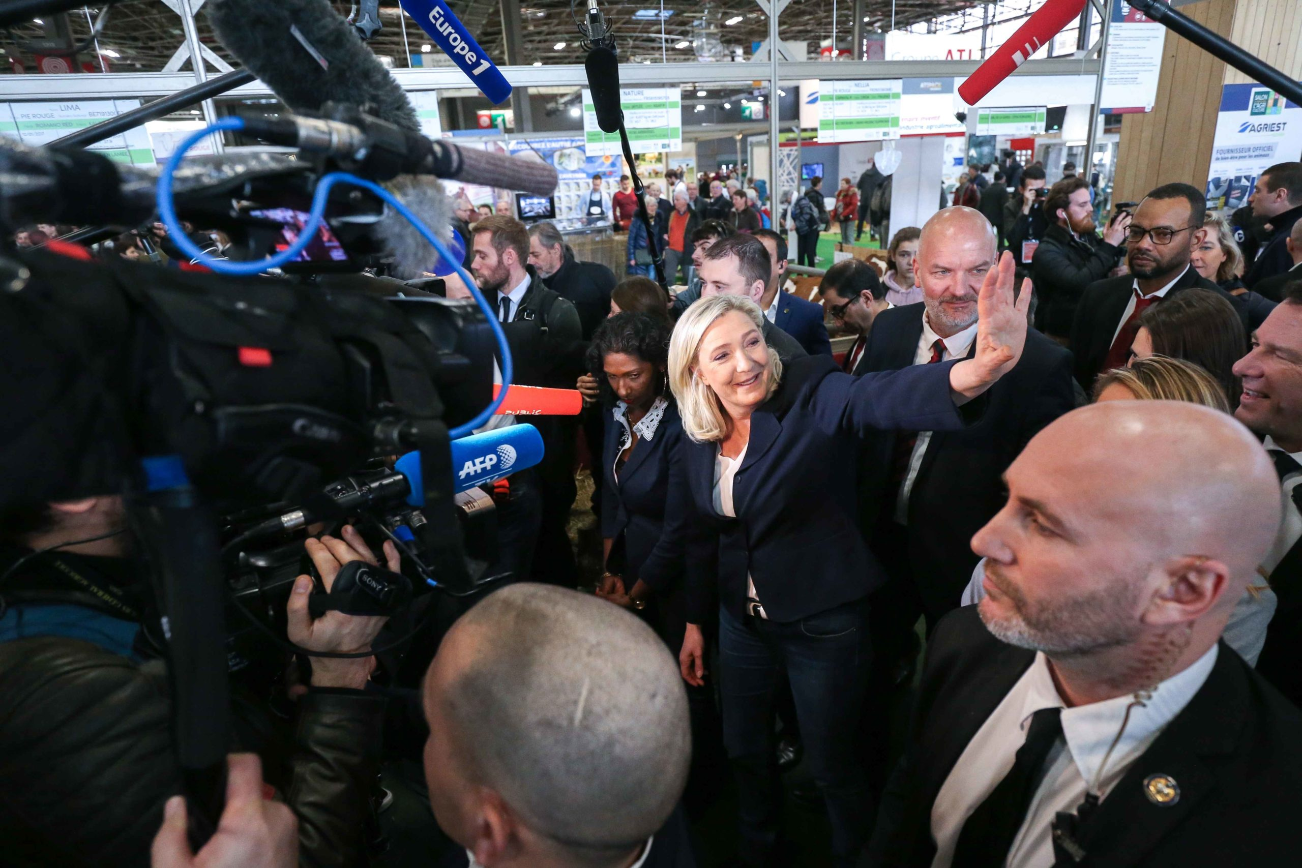 Marine Le Pen visite le Salon international de l'agriculture. © Michel Stoupak. Mar 25.02.2020, 10:25:12.
