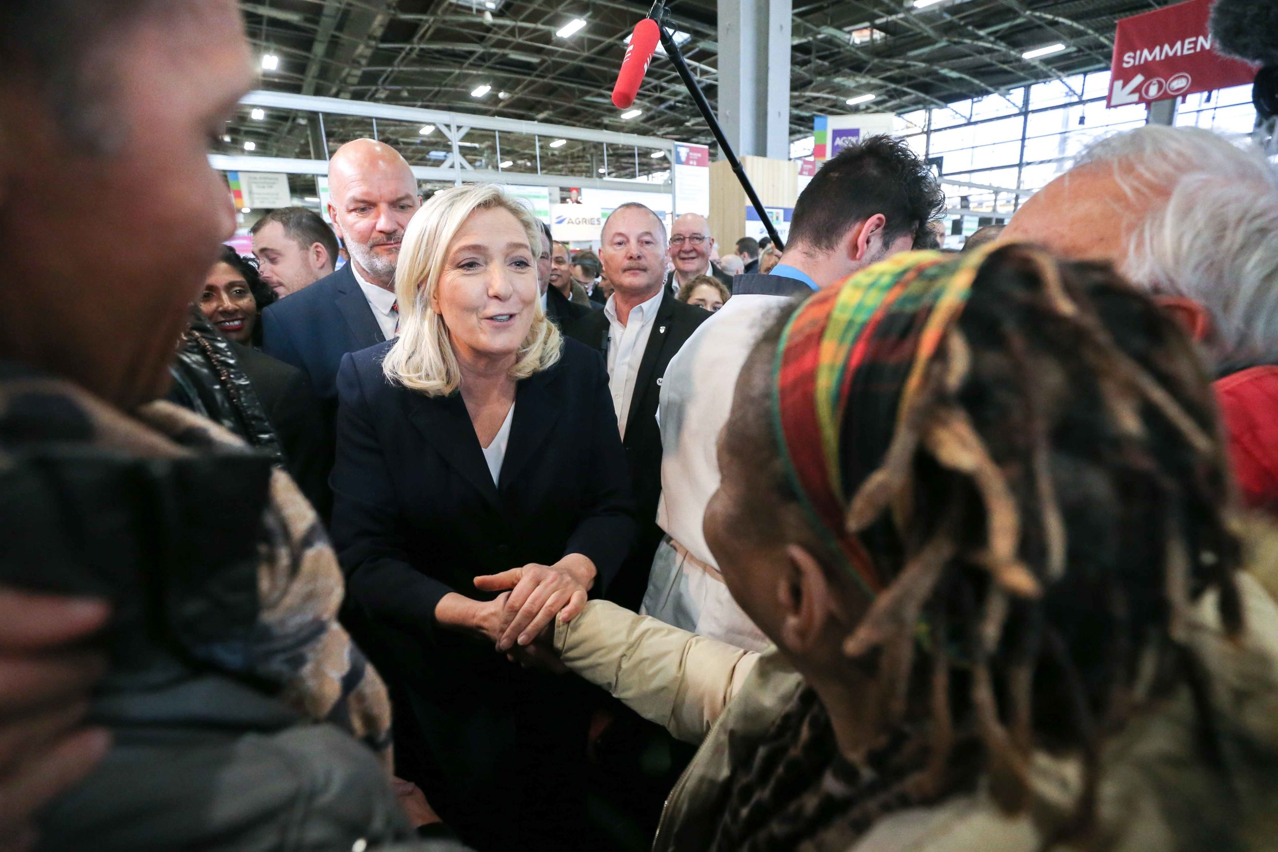 Marine Le Pen visite le Salon international de l'agriculture. © Michel Stoupak. Mar 25.02.2020, 10:25:25.