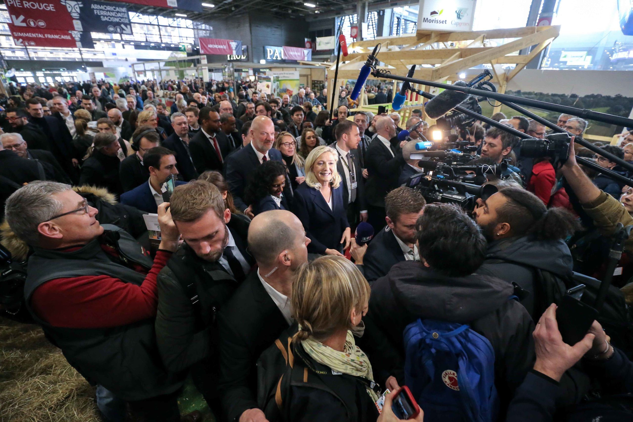 Marine Le Pen visite le Salon international de l'agriculture. © Michel Stoupak. Mar 25.02.2020, 10:27:27.