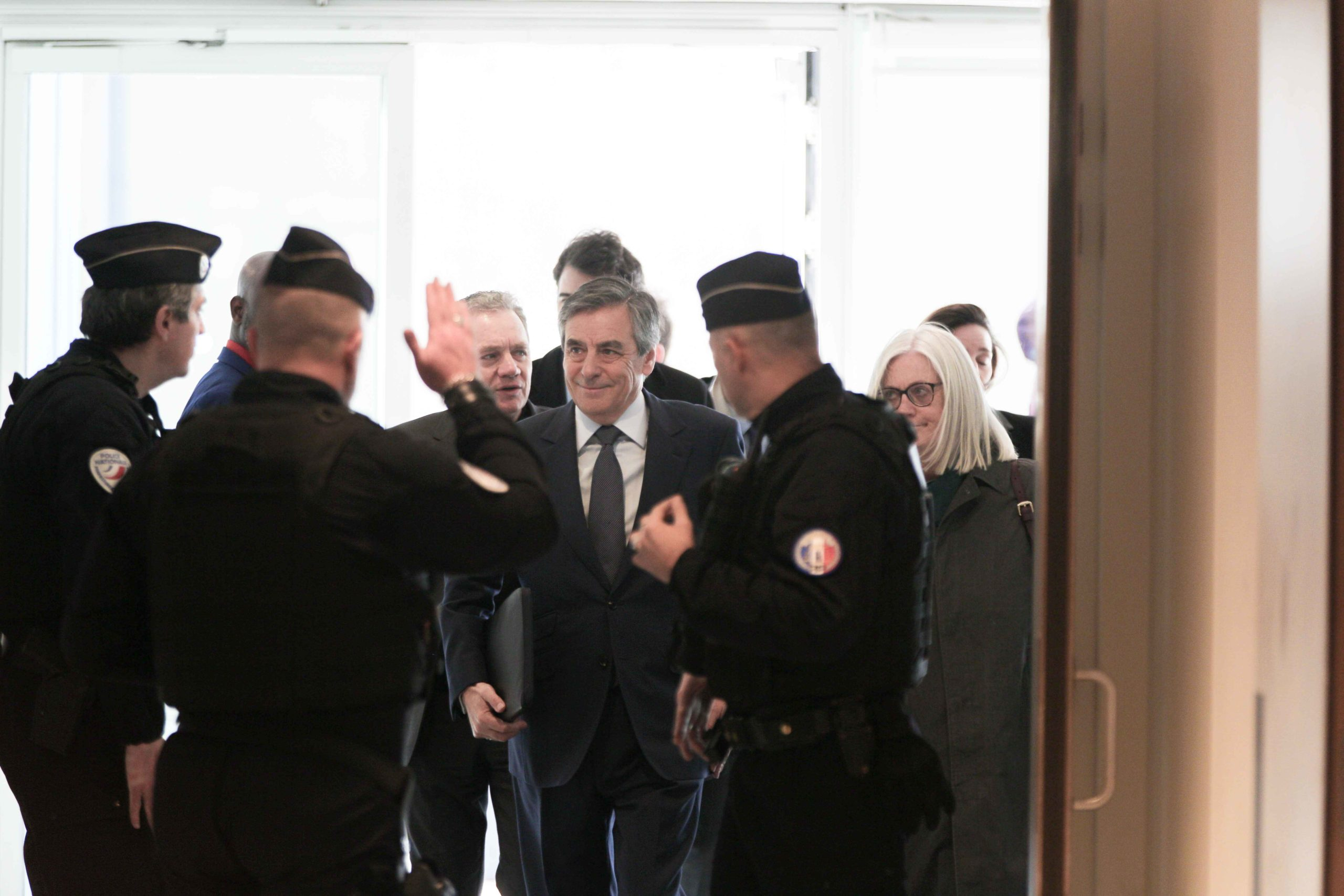 François et Pénélope Fillon arrivent au tribunal. © Michel Stoupak. Mer 26.02.2020, 13:11:16.