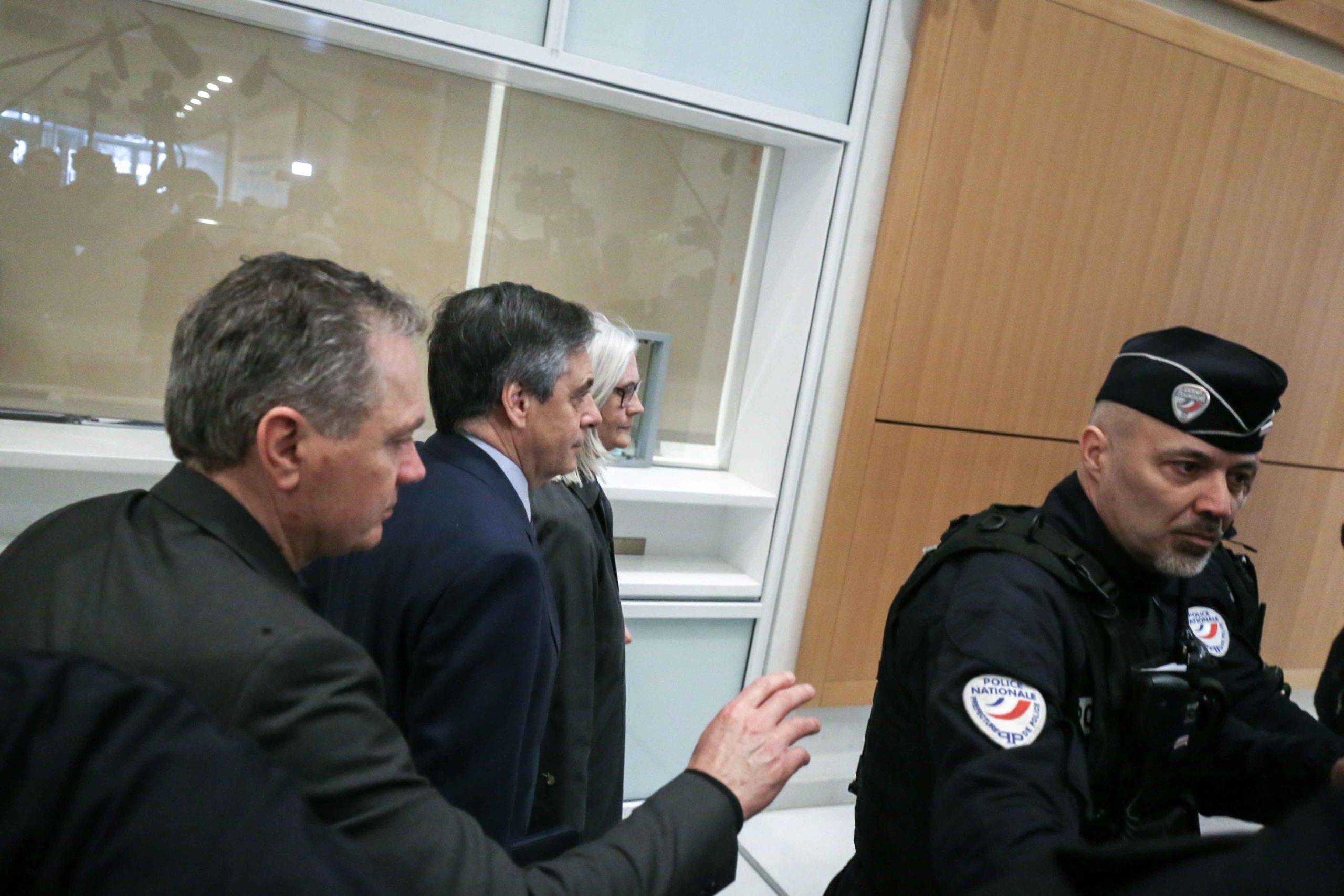 François et Pénélope Fillon arrivent au tribunal. © Michel Stoupak. Mer 26.02.2020, 13:15:01.