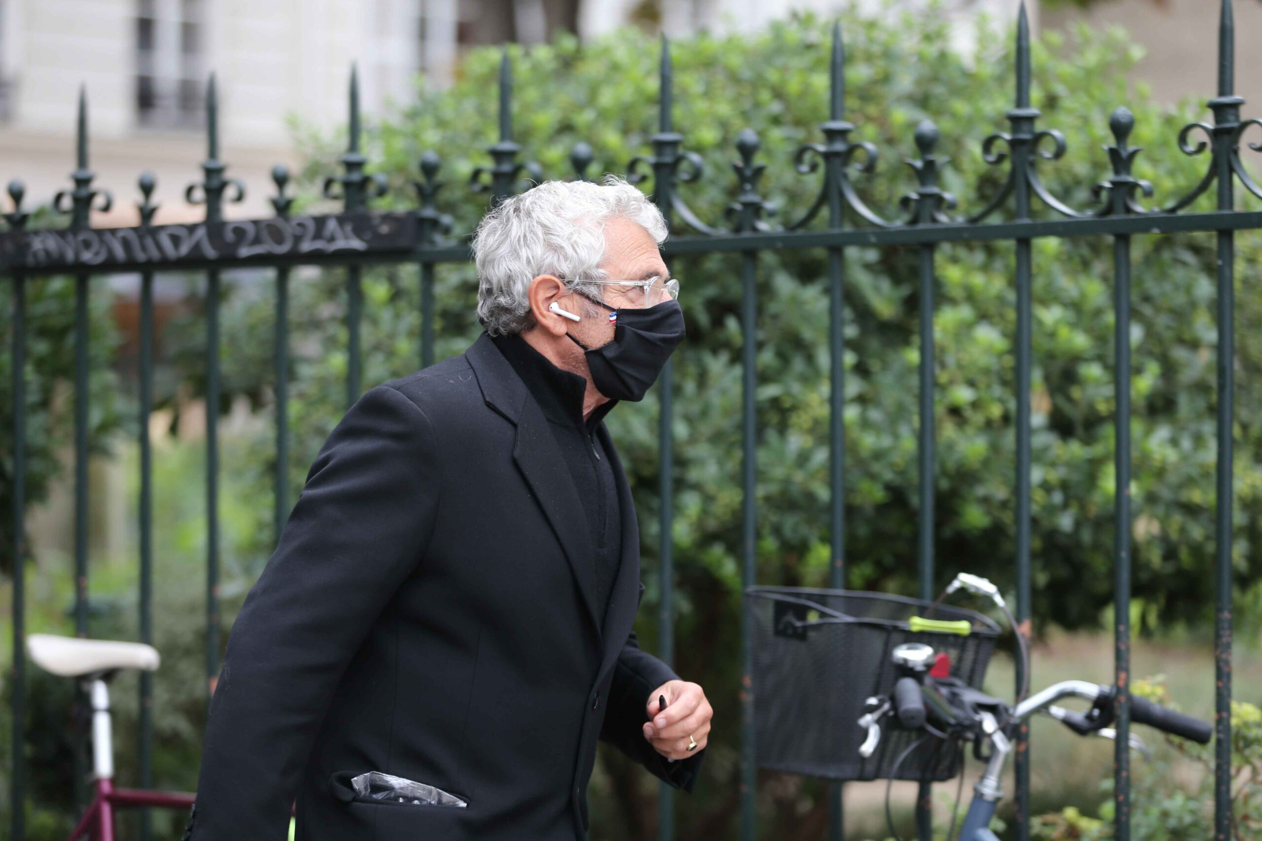 French actor Michel Boujenah arrive for the funerals of French singer Juliette Greco, at the Saint-Germain-des-Pres church in Paris, on October 5, 2020. Legendary French singer Juliette Greco, whose career spanned over half a century, died aged 93, on Sept