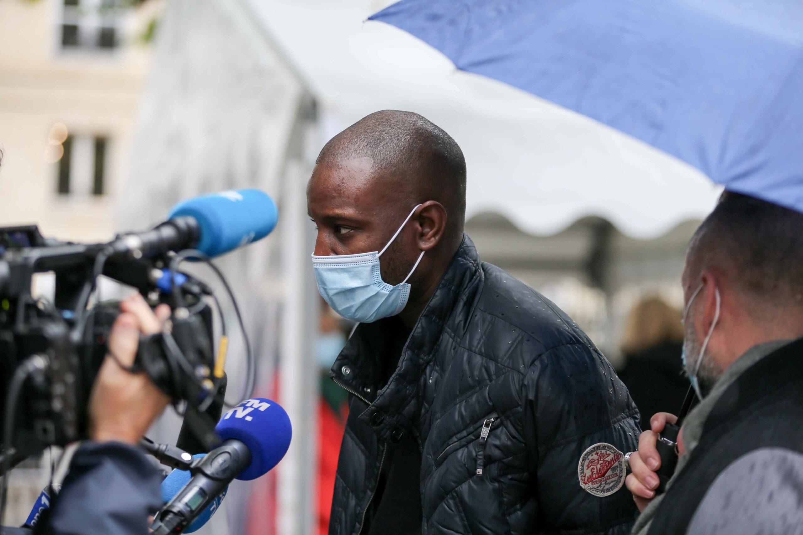 Le chanteur Abd Al Malik parle à la presse. © Michel Stoupak. Lun 05.10.2020, 14h55m07.