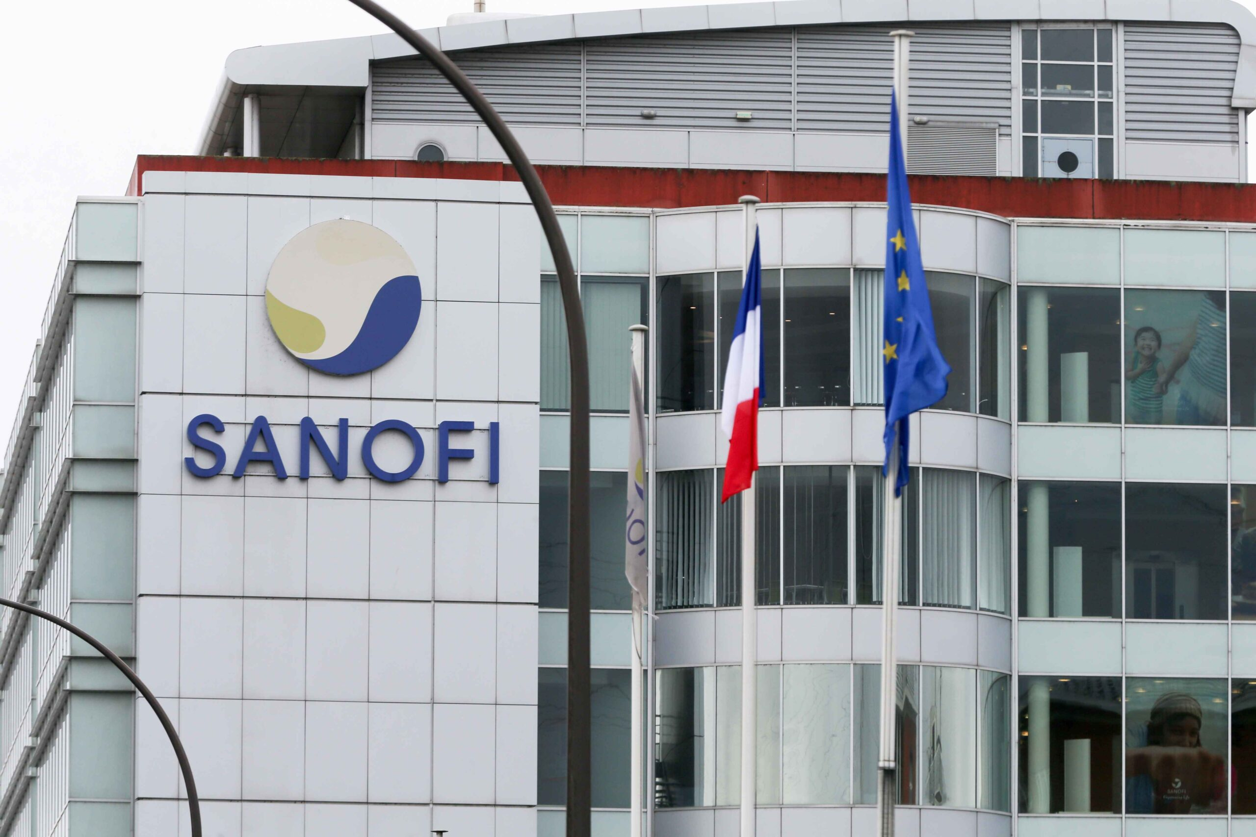 This picture taken on January 19, 2021 shows the production and Research & Development, platform in the biotechnology facility of the French pharmaceutical industry company Sanofi in Vitry-sur-Seine, a Paris suburb. Sanofi, France's biggest pharmaceutica