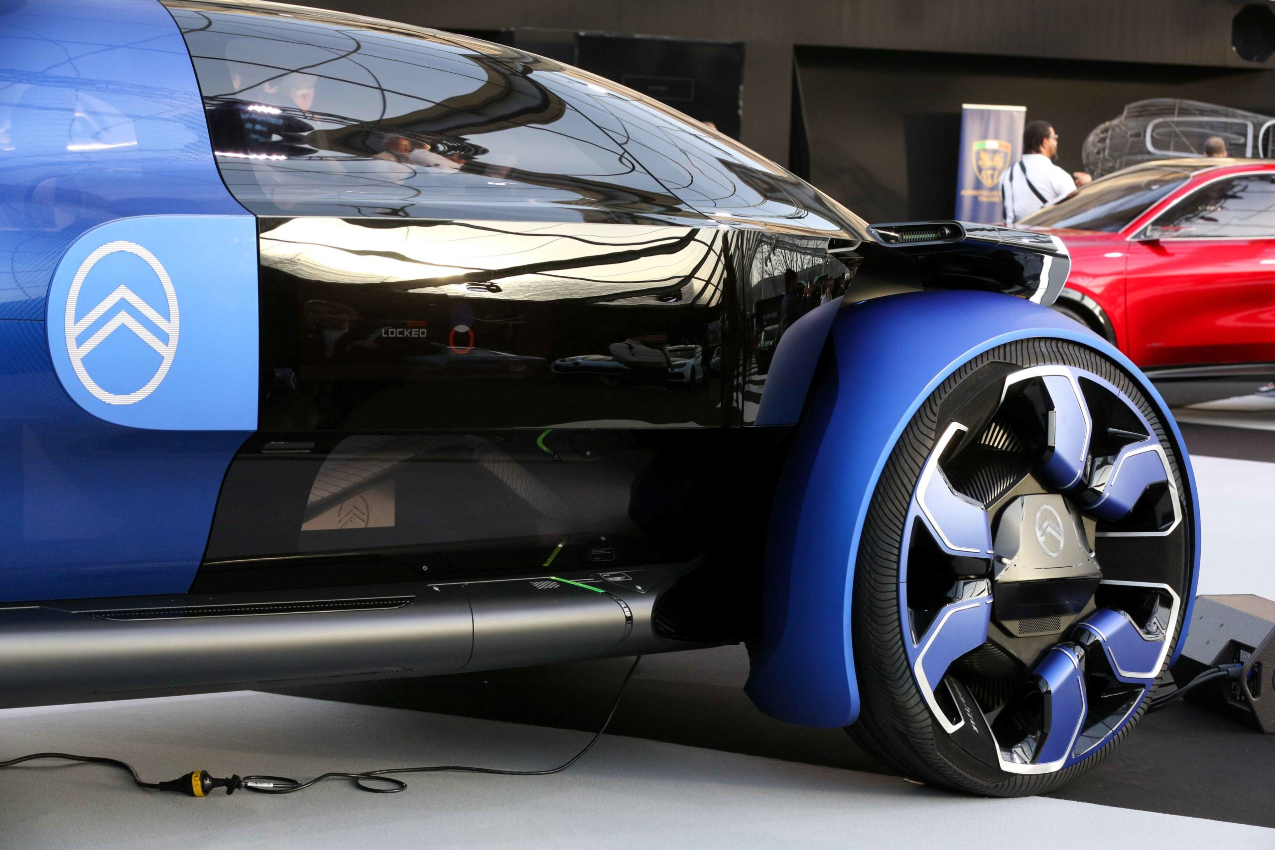 A Citroën 19 concept-car is displayed during the press day of the 2020 concept-cars exhibition and automobile design in Paris on January 20, 2020. The latest concept-cars and supercars are displayed during this exhibition where the greatest designers of t
