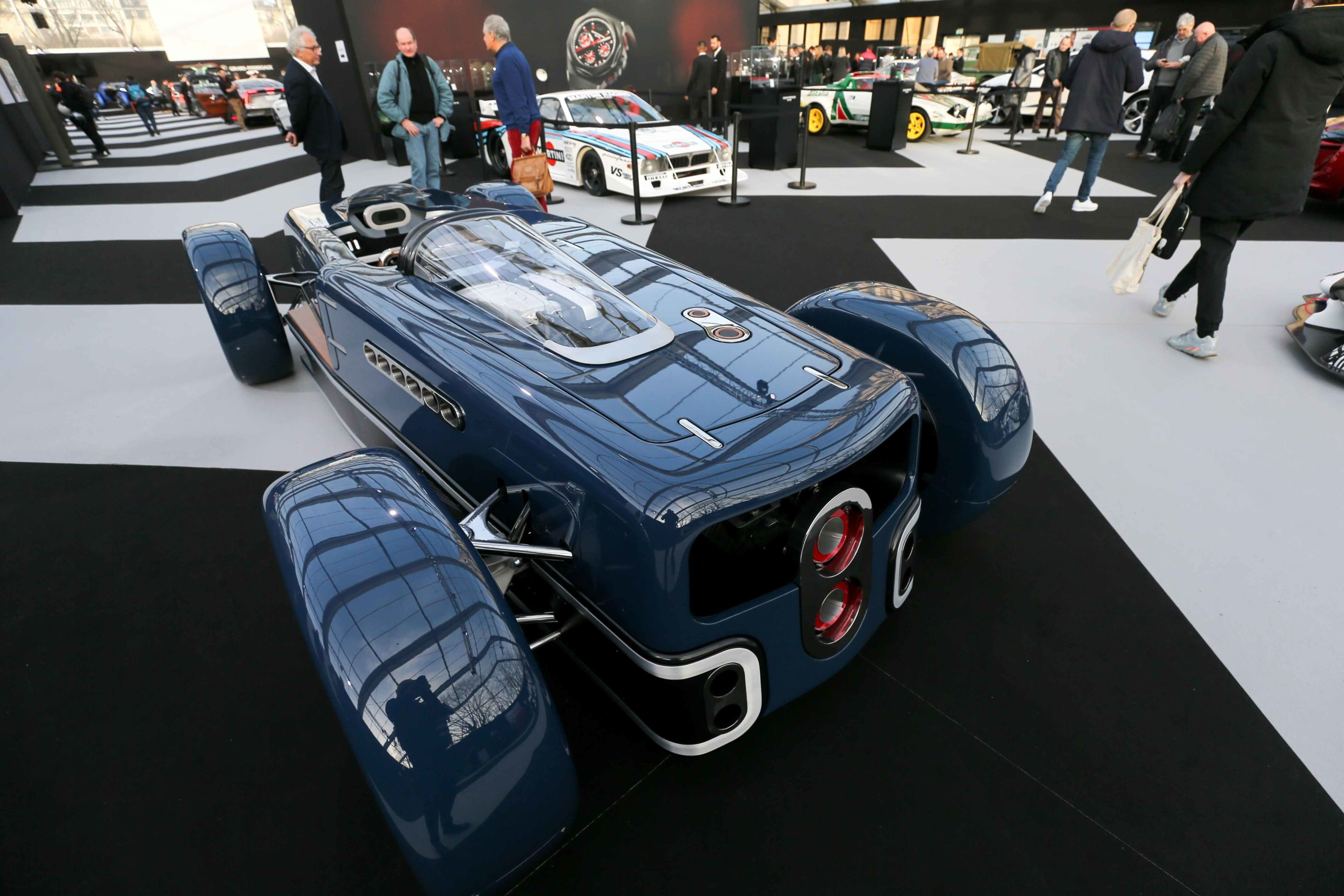 A Krugger FD is displayed during the press day of the 2020 concept-cars exhibition and automobile design in Paris on January 20, 2020. The latest concept-cars and supercars are displayed during this exhibition where the greatest designers of the world show