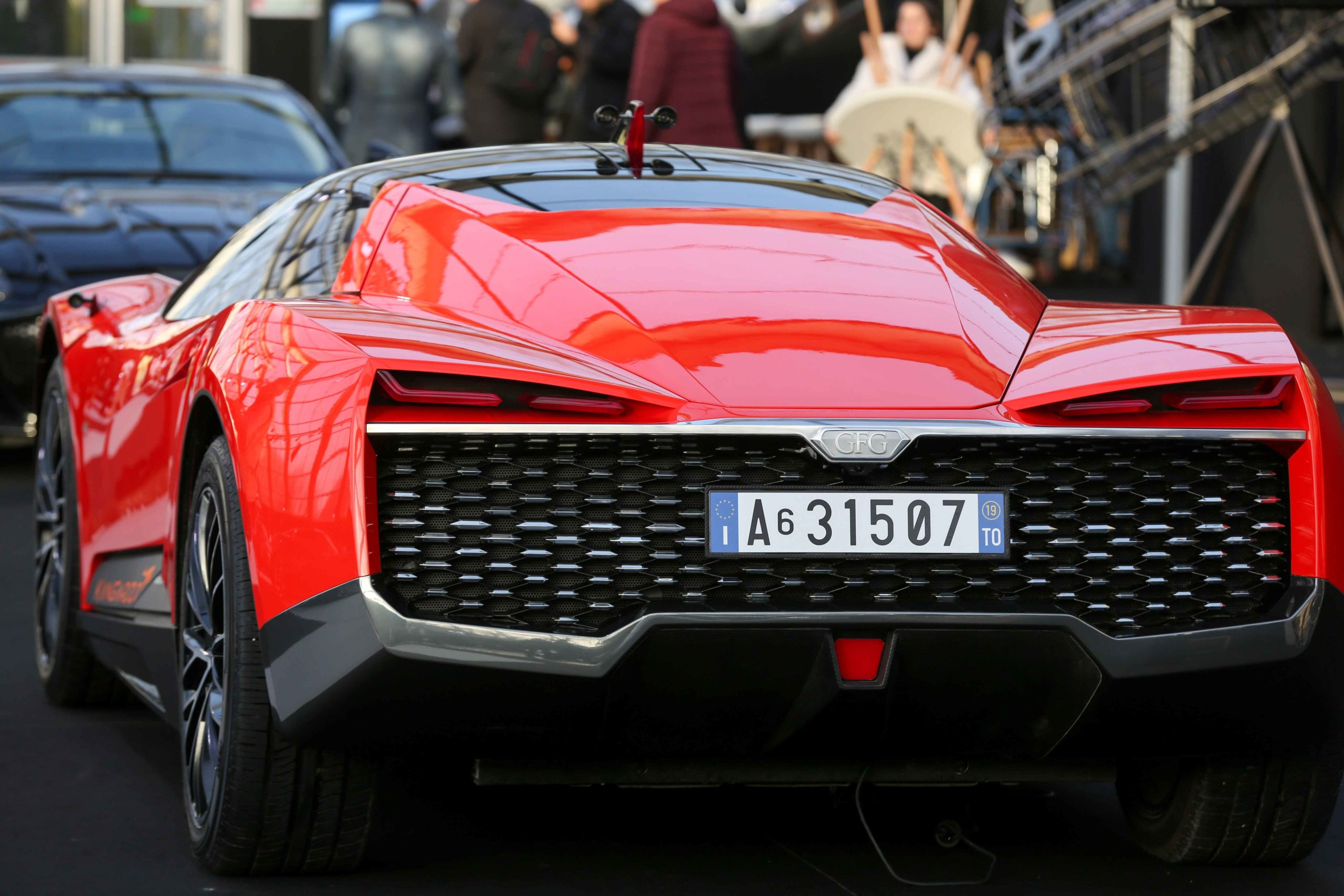 A GFG Style Kangaroo is displayed during the press day of the 2020 concept-cars exhibition and automobile design in Paris on January 20, 2020. The latest concept-cars and supercars are displayed during this exhibition where the greatest designers of the wo